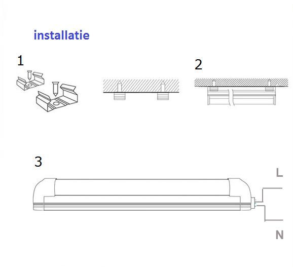 installatie-beschrijving Led TL armatuur