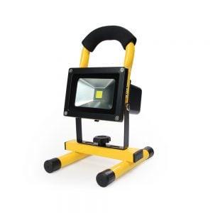 Led bouwlamp 10 Watt op accu